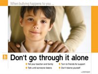 Don't Go Through it Alone (Laminated)