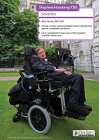 Stephen Hawking (Laminated)